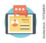 user profile info vector icon  | Shutterstock .eps vector #747568834