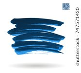 blue brush stroke and texture.... | Shutterstock .eps vector #747571420