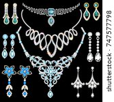 illustration set of jewelry... | Shutterstock .eps vector #747577798