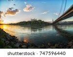 ancient castle in bratislava ... | Shutterstock . vector #747596440