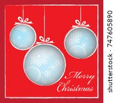greeting card for christmas and ... | Shutterstock .eps vector #747605890