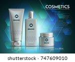 cosmetics vector realistic... | Shutterstock .eps vector #747609010