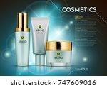 cosmetics vector realistic... | Shutterstock .eps vector #747609016