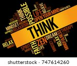 think word cloud collage ... | Shutterstock . vector #747614260