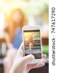 smart phone pictures of a...   Shutterstock . vector #747617290