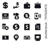 16 vector icon set   dollar ... | Shutterstock .eps vector #747620473