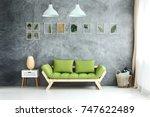 set of framed tropical leaves... | Shutterstock . vector #747622489