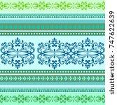 ethnic geometric print.... | Shutterstock .eps vector #747622639