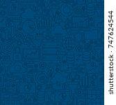 data filter line tile pattern.... | Shutterstock .eps vector #747624544