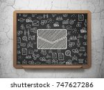 business concept  chalk white... | Shutterstock . vector #747627286