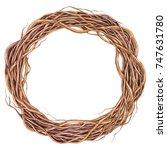 autumn wreath. watercolor...   Shutterstock . vector #747631780