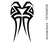 tattoo tribal designs. sketched ... | Shutterstock .eps vector #747634018