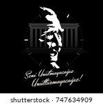 november 10   ataturk death... | Shutterstock .eps vector #747634909