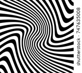 abstract waves black and white... | Shutterstock .eps vector #747635008