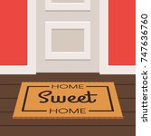 the inscription home sweet home ... | Shutterstock .eps vector #747636760