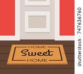 the inscription home sweet home ... | Shutterstock .eps vector #747636760