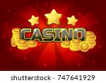 logo text casino and gold coins ...