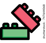 colorful blocks child...   Shutterstock .eps vector #747644068