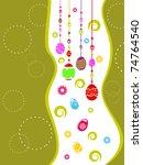 beautiful design greeting card... | Shutterstock .eps vector #74764540