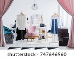 spacious dressing room  the... | Shutterstock . vector #747646960