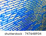 computer science lesson.... | Shutterstock . vector #747648934