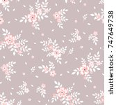 seamless floral pattern.... | Shutterstock .eps vector #747649738