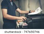Bussiness Man  Hand Press...