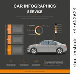 business info graphic with car. ... | Shutterstock .eps vector #747652624