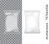 set of transparent and white... | Shutterstock .eps vector #747661036
