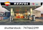 ponferrada  spain. circa... | Shutterstock . vector #747662299