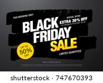 black friday sale banner layout ... | Shutterstock .eps vector #747670393