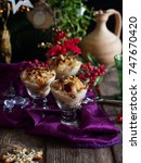 Small photo of italian trifle with pear