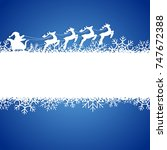 winter background with santa... | Shutterstock .eps vector #747672388