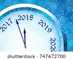 new year's eve 2018 | Shutterstock .eps vector #747672700