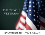 some american flags and the... | Shutterstock . vector #747673174