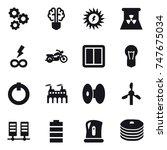 16 vector icon set   gear  bulb