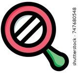 vector illustration of ding... | Shutterstock .eps vector #747680548