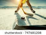 ice hockey game moment | Shutterstock . vector #747681208