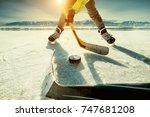 ice hockey game moment | Shutterstock . vector #747681208