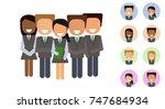 business people. vector set... | Shutterstock .eps vector #747684934
