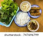 """bun cha""   the famous...   Shutterstock . vector #747696799"