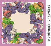 Colorful Silk Scarf With...