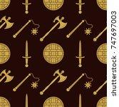 vector gold color solid design...   Shutterstock .eps vector #747697003