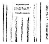 vector black monochrome chalk... | Shutterstock .eps vector #747697084