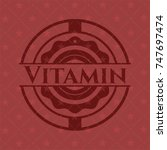 vitamin red emblem | Shutterstock .eps vector #747697474