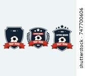 soccer football club logo badge ... | Shutterstock .eps vector #747700606