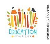 abstract education day label... | Shutterstock .eps vector #747701986