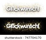 congratulations paper banner... | Shutterstock .eps vector #747704170