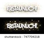 amazing paper banner with... | Shutterstock .eps vector #747704218