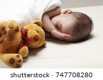 baby about to weak up | Shutterstock . vector #747708280